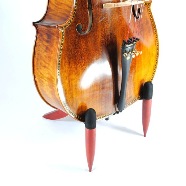 Frederick Wooden Cello Stand - Mahogany Cherry