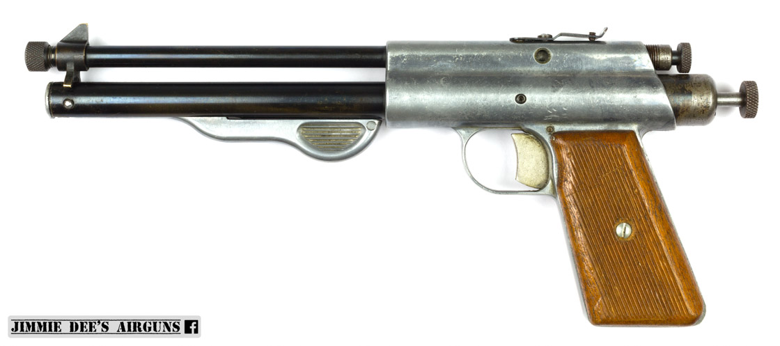 A dual calibre repeater Apache Fireball. Notice the .175 calibre loading port just below the rear sight.