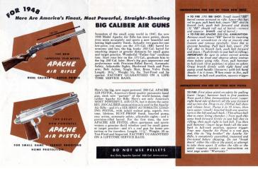 Apache air guns instruction leaflet.