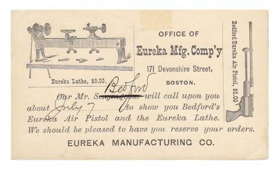 Eureka Manufacturing Company Business Card [2]