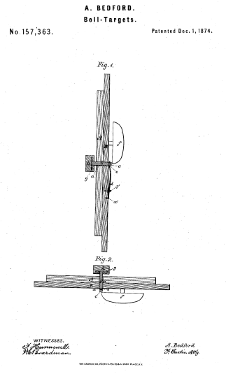 Bedford's Bell Target Patent