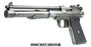 The Challenger Arms Corporation Plainsman pneumatic air pistol.