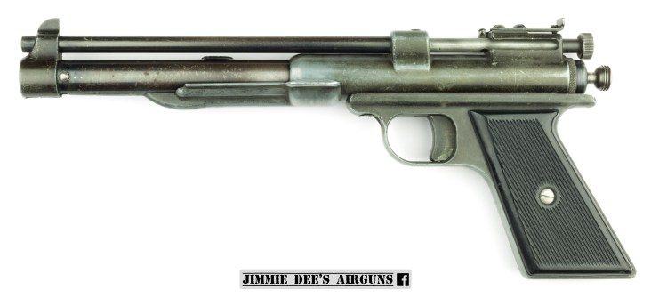 The Challenger Arms Corporation Plainsman pneumatic air pistol.