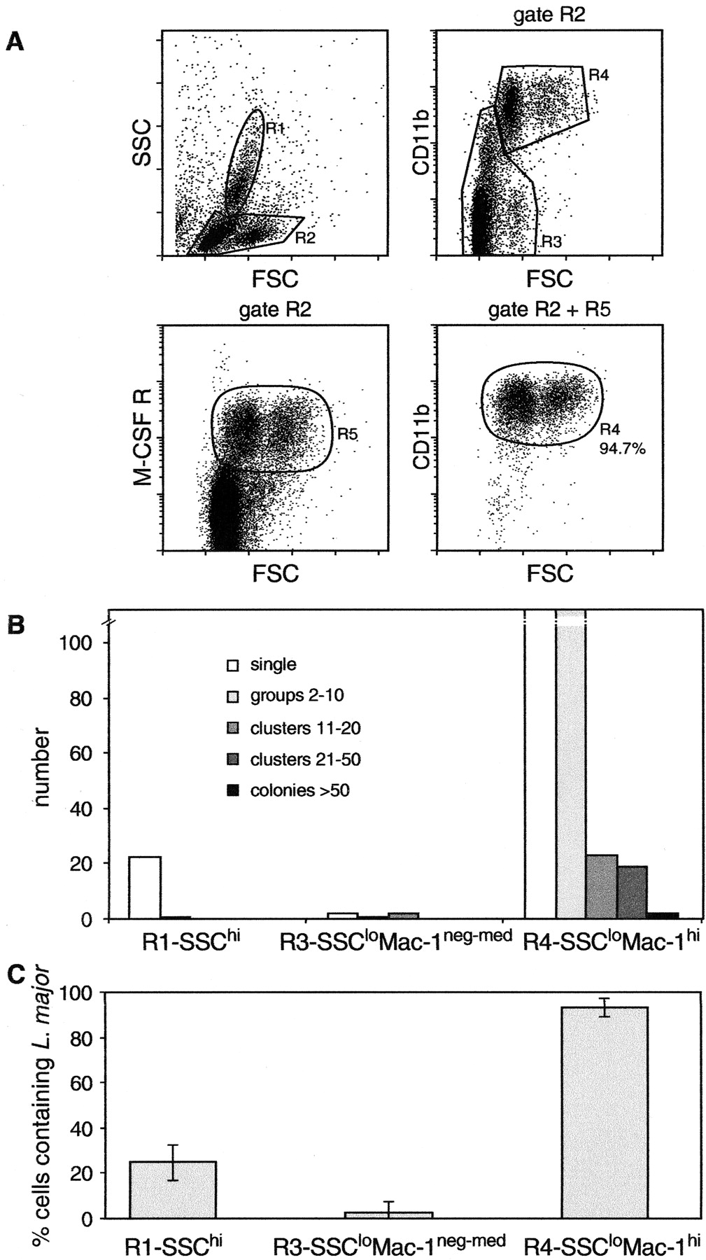 Subpopulations of Mouse Blood Monocytes Differ in