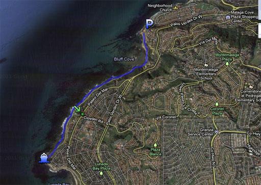 Bluff Cove Map