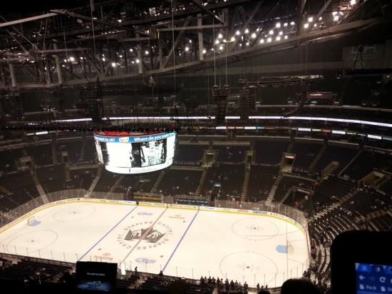 Empty Staples Center