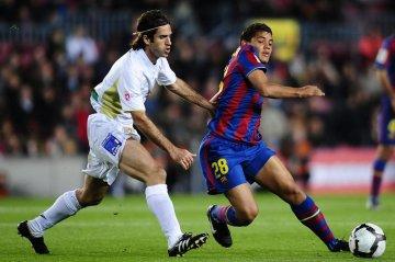 Jonathan Dos Santos i kamp mod Albacete i Segunda División for Barça B