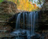 Waterfall in Bella Vista's Tanyard Creek