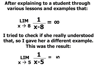 Funny Student Math Mistakes