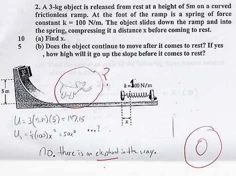 Funny Student Exam Answers