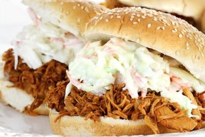 BBQ pork sliders with Slaw shutterstock_95717302