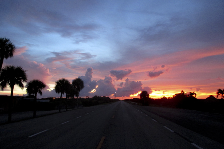 Sunset in the Everglades, Florida USA