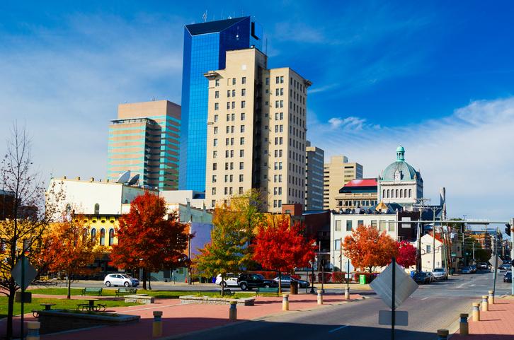 Image of Lexington Kentucky Downtown Area