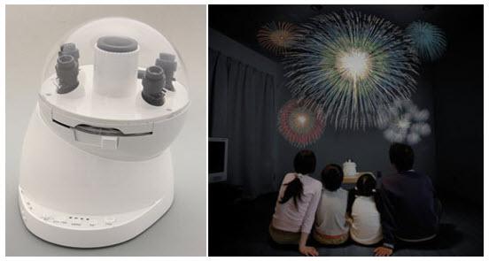 fireworks projector
