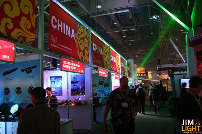 Chinese Lighting Manufacturers At LDI 2010