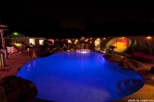 A great pool shot by Lewis Lee