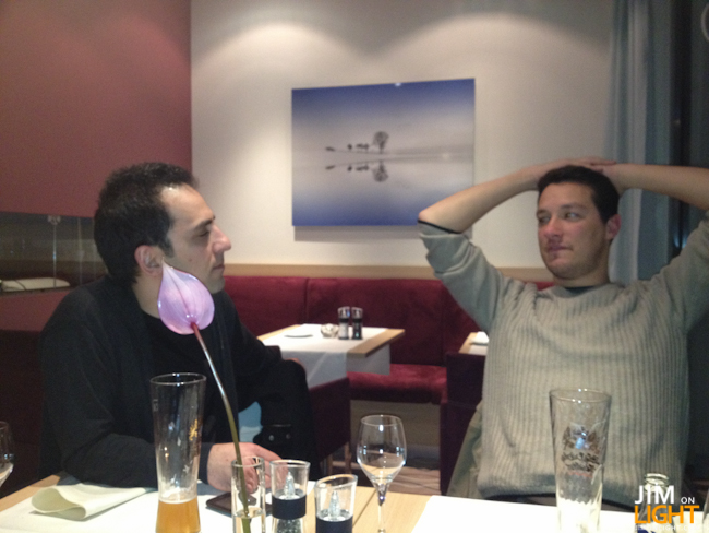 Reza and Igor at dinner