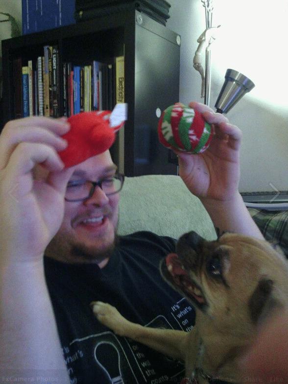 Roxy/Daddy Christmastime!