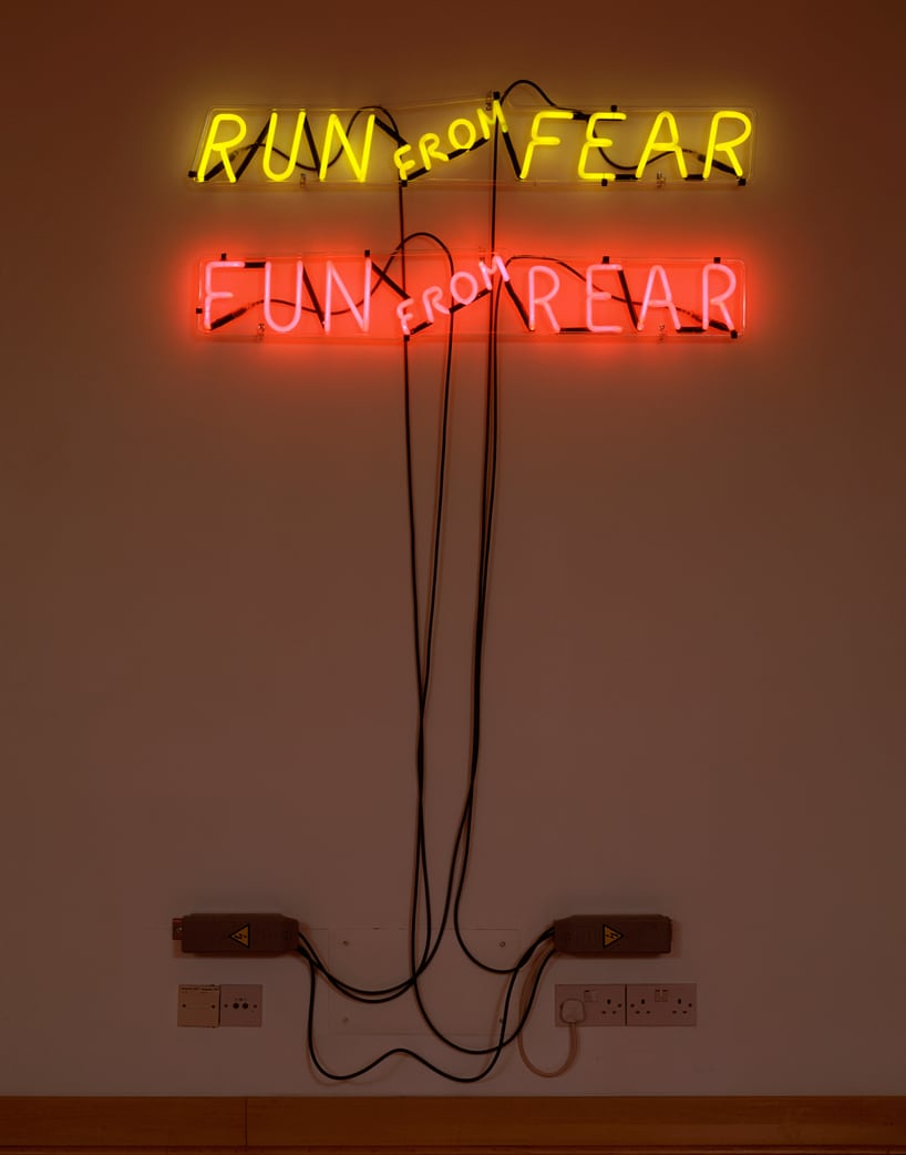 bruce-nauman-run-from-fear-fun-from-rear-1972