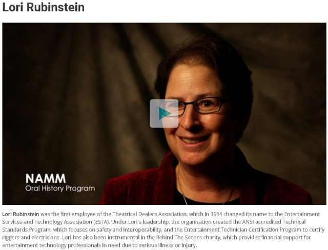 Lori Rubenstein NAMM Oral History