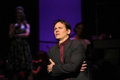 Jim Poulos as Bobby - Company at Geva Theatre Center, 2012: Director: Mark Cuddy, Scenic Design: G.W. Mercier, Costume Design: Pamela Scofield, Lighting Design: Joel Moritz, Photos: Ken Huth