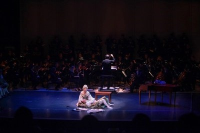 IMG_6371.jpg_ The Fayetteville Symphony, Cape Fear Regional Thatre and Th university of North Carolina at Pembroke Choir present Amadeus at Seabrook Auditorium on Friday, March20th, 2015.