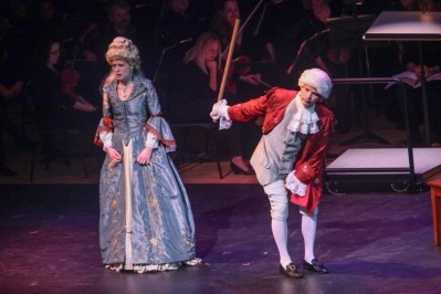 """""""IMG_5991.jpg_ The Fayetteville Symphony, Cape Fear Regional Thatre and Th university of North Carolina at Pembroke Choir present Amadeus at Seabrook Auditorium on Friday, March20th, 2015."""""""