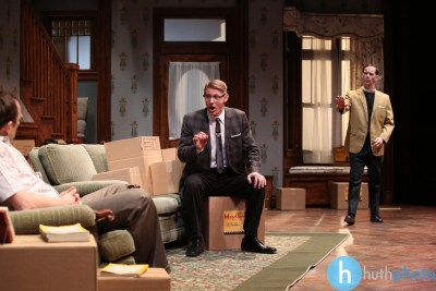 Skip Greer, Christian Pedersen and Jim Poulos - Clybourne Park: A co-production between Geva Theatre Center and Cleveland Playhouse, 2014: Director: Mark Cuddy, Scenic and Costume Design: G.W. Mercier, Lighting Design: Ann G. Wrightson, Photos: Ken Huth