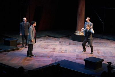 Christopher Gerson, Stephen Hu, Jim Poulos, Ross Cowan - Hamlet by William Shakespeare presented by Repertory Theater of St. Louis on Oct 10, 2017. Photo: Peter Wochniak