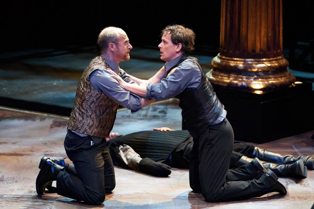 Christopher Gerson, Jim Poulos - Hamlet by William Shakespeare presented by Repertory Theater of St. Louis on Oct 10, 2017. Photo: Peter Wochniak
