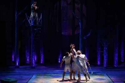 Jim Poulos Jeffrey Omura, Caroline Amos, Gracyn Mix, Andy Rindlisbach - A Midsummer Night's Dream at Repertory Theatre of St. Louis 2014: Director: Paul Barnes, Set Design: James Kronzer, Costume Design: Susan Branch Towne, Lighting Design: Lonnie Rafael Alcaraz, Choreographer: Matt Williams, All Photos: ©Photo by Jerry Naunheim Jr.