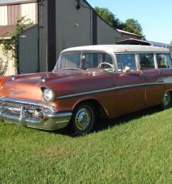 1957 chevy wagon 210 v8 barn find indiana [ 1000 x 825 Pixel ]