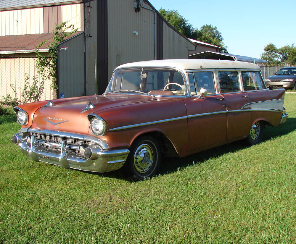 hight resolution of 1957 chevy wagon 210 v8 barn find indiana