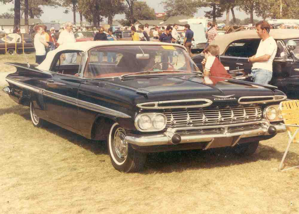 medium resolution of a 1959 six cylinder belair in original paint never restored condition