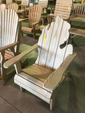michigan adirondack chair ergonomic desk jim s amish structures 170 00