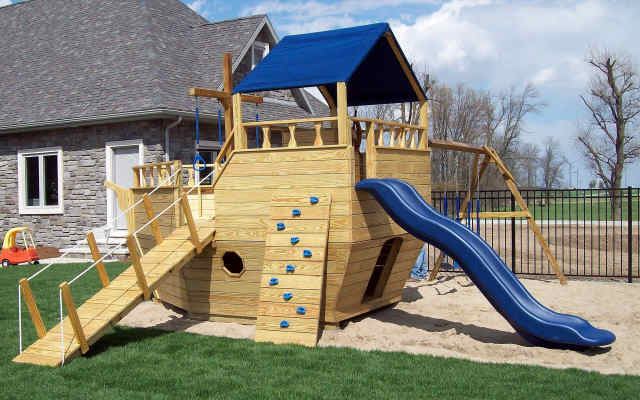 Wood Playground Equipment  Jims Amish Structures