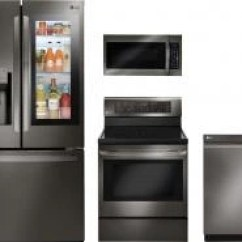 4 Piece Stainless Steel Kitchen Package White Furniture Appliances Jim S Of Inman Lg Black Lgkitldp6797bd