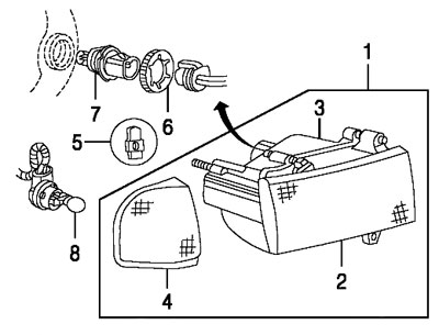 2002 Dodge Dakota Headlight Diagram. Dodge. Auto Wiring