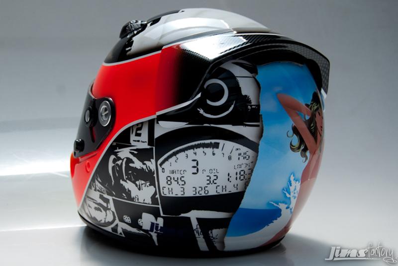 Arai Kart Helmet Custom Paint