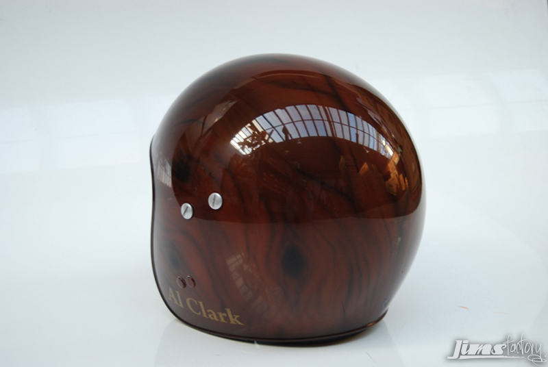 Wooden Helmet Painted by Jims Factory