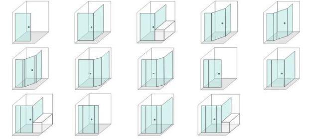 c2 Semi Frameless Shower Screens