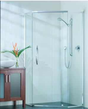 semi-framless shower screen
