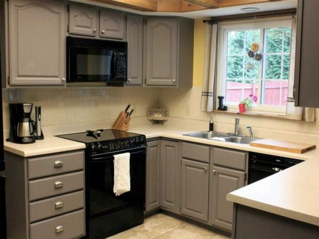 repainted kitchen cupboards