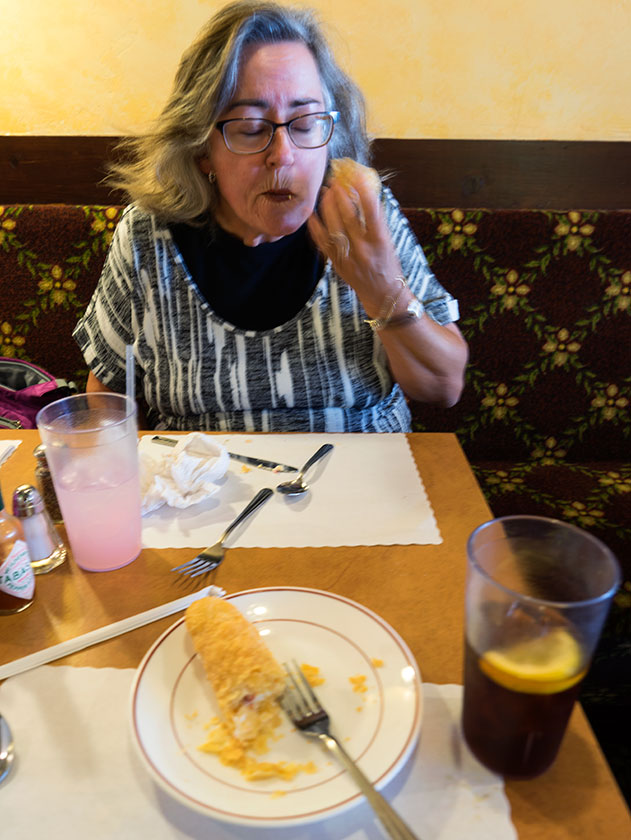 Queen Anne Eats a Danish Waffle