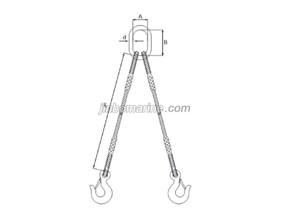 Double Legs Spliced Wire Rope Sling, Buy Chain Sling from