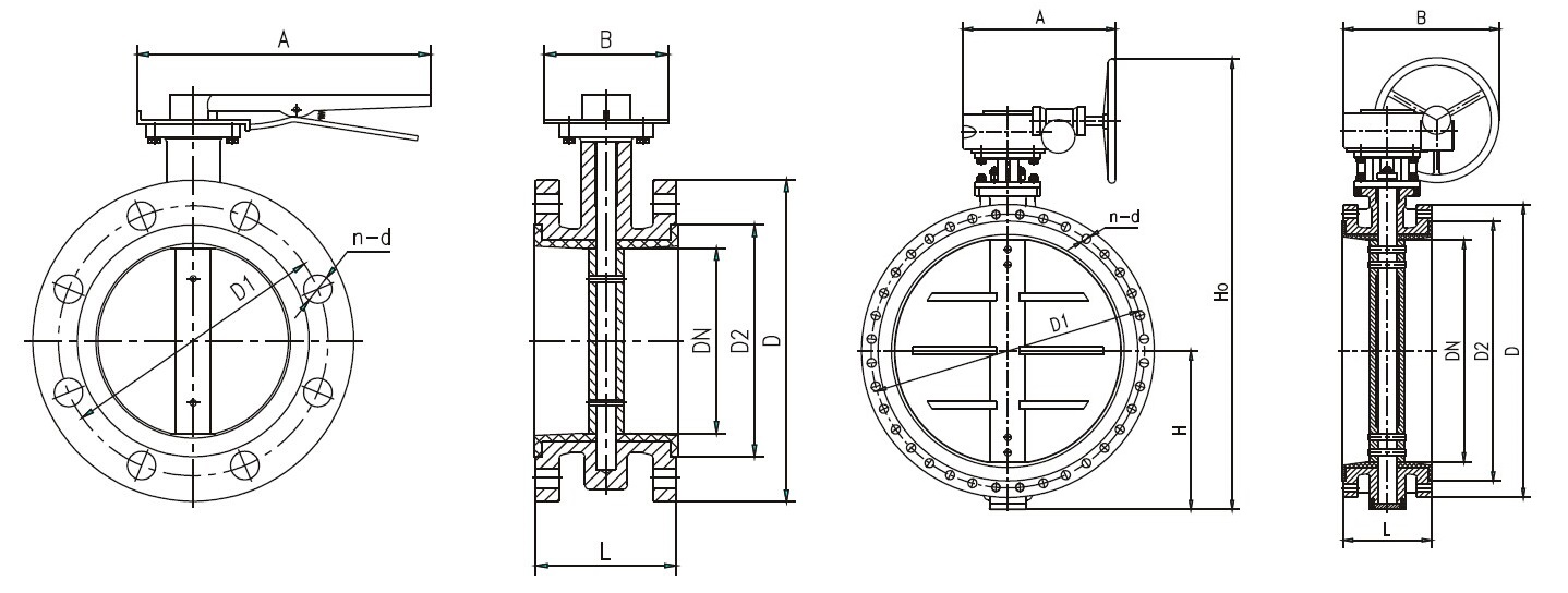 Double Flange Butterfly Valve, Buy Butterfly Valve from