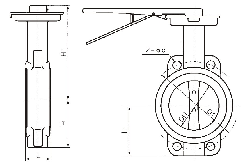 Wafer Centric Butterfly Valve with Lever, Buy Butterfly