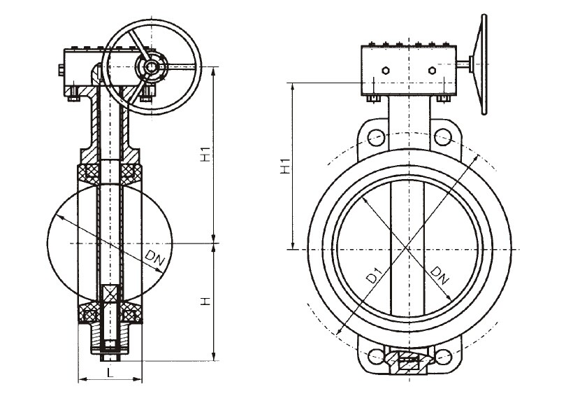 Wafer Centric Butterfly Valve with Worm Gear, Buy