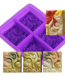 ocean wave silicone soap mold