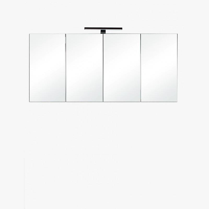 Aquazur Meuble Salle De Bain Haut 120cm Avec 4 Miroirs Et Eclairage